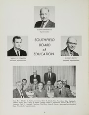 Page 10, 1960 Edition, Southfield High School - Blue and Gray Yearbook (Southfield, MI) online yearbook collection