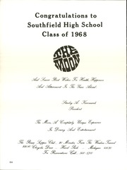 Page 238, 1968 Edition, Southfield High School - Blue and Gray Yearbook (Southfield, MI) online yearbook collection