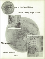 Page 5, 1958 Edition, Denby High School - Navigator Yearbook (Detroit, MI) online yearbook collection