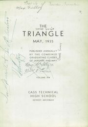 Page 7, 1935 Edition, Cass Technical High School - Triangle Yearbook (Detroit, MI) online yearbook collection
