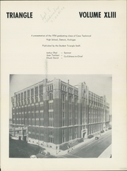 Page 5, 1954 Edition, Cass Technical High School - Triangle Yearbook (Detroit, MI) online yearbook collection