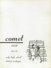 Page 5, 1959 Edition, Cody High School - Comet Yearbook (Detroit, MI) online yearbook collection