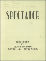 Page 5, 1940 Edition, Wayne Memorial High School - Spectator Yearbook (Wayne, MI) online yearbook collection