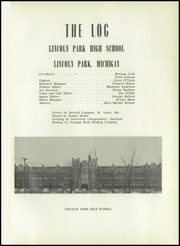 Page 5, 1950 Edition, Lincoln Park High School - Log Yearbook (Lincoln Park, MI) online yearbook collection