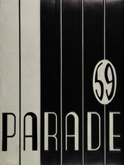 1959 Edition, Pershing High School - Parade Yearbook (Detroit, MI)