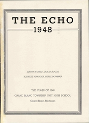 Page 7, 1948 Edition, Grand Blanc High School - Echo Yearbook (Grand Blanc, MI) online yearbook collection