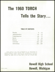 Page 7, 1960 Edition, Howell High School - Torch Yearbook (Howell, MI) online yearbook collection
