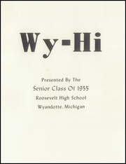 Page 5, 1955 Edition, Roosevelt High School - Wy Hi Yearbook (Wyandotte, MI) online yearbook collection