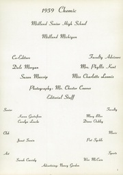 Page 5, 1959 Edition, Midland High School - Chemic Yearbook (Midland, MI) online yearbook collection
