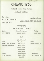Page 5, 1960 Edition, Midland High School - Chemic Yearbook (Midland, MI) online yearbook collection