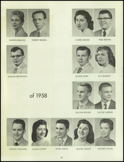 Page 47, 1958 Edition, Bentley High School - Pioneer Yearbook (Livonia, MI) online yearbook collection