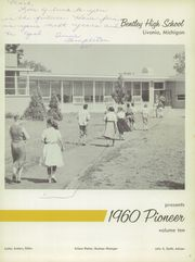 Page 7, 1960 Edition, Bentley High School - Pioneer Yearbook (Livonia, MI) online yearbook collection