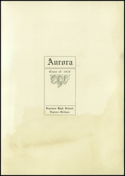 Page 3, 1910 Edition, Saginaw High School - Aurora Yearbook (Saginaw, MI) online yearbook collection