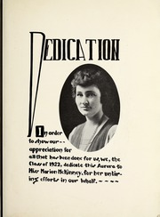 Page 11, 1922 Edition, Saginaw High School - Aurora Yearbook (Saginaw, MI) online yearbook collection