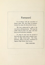 Page 12, 1922 Edition, Saginaw High School - Aurora Yearbook (Saginaw, MI) online yearbook collection