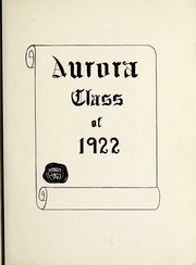 Page 9, 1922 Edition, Saginaw High School - Aurora Yearbook (Saginaw, MI) online yearbook collection