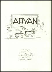 Page 5, 1950 Edition, Southeastern High School - Aryan Yearbook (Detroit, MI) online yearbook collection