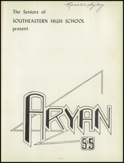 Page 5, 1955 Edition, Southeastern High School - Aryan Yearbook (Detroit, MI) online yearbook collection