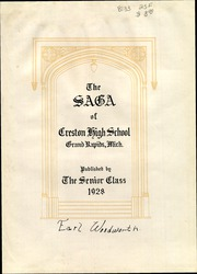 Page 5, 1928 Edition, Creston High School - Saga Yearbook (Grand Rapids, MI) online yearbook collection