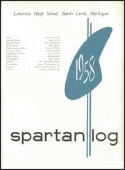 Page 5, 1958 Edition, Lakeview High School - Log Yearbook (Battle Creek, MI) online yearbook collection