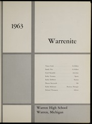 Page 5, 1963 Edition, Warren High School - Warrenite Yearbook (Warren, MI) online yearbook collection