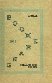 Page 1, 1915 Edition, Holland High School - Boomerang Yearbook (Holland, MI) online yearbook collection