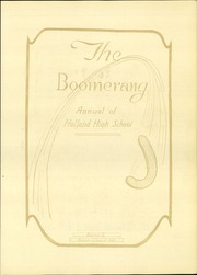 Page 7, 1926 Edition, Holland High School - Boomerang Yearbook (Holland, MI) online yearbook collection