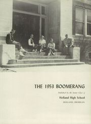 Page 7, 1953 Edition, Holland High School - Boomerang Yearbook (Holland, MI) online yearbook collection