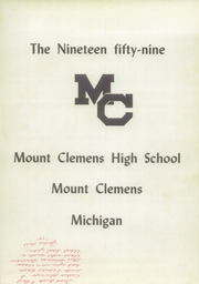 Page 5, 1959 Edition, Mount Clemens High School - Yearbook (Mount Clemens, MI) online yearbook collection