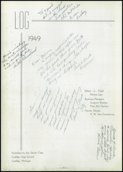 Page 6, 1949 Edition, Cadillac High School - Log Yearbook (Cadillac, MI) online yearbook collection