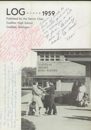 Page 6, 1959 Edition, Cadillac High School - Log Yearbook (Cadillac, MI) online yearbook collection