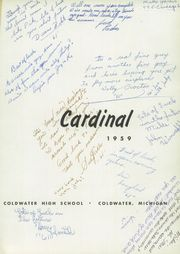Page 5, 1959 Edition, Coldwater High School - Cardinal Yearbook (Coldwater, MI) online yearbook collection