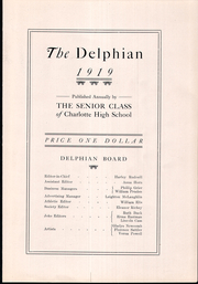 Page 13, 1919 Edition, Charlotte High School - Delphian Yearbook (Charlotte, MI) online yearbook collection