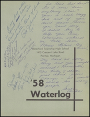 Page 7, 1958 Edition, Waterford Township High School - Waterlog Yearbook (Waterford, MI) online yearbook collection