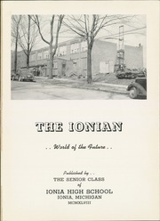 Page 5, 1948 Edition, Ionia High School - Ionian Yearbook (Ionia, MI) online yearbook collection