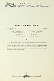 Page 12, 1936 Edition, Tyler Junior College - Apache Yearbook (Tyler, TX) online yearbook collection