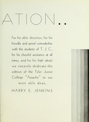 Page 9, 1938 Edition, Tyler Junior College - Apache Yearbook (Tyler, TX) online yearbook collection