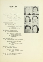 Page 13, 1941 Edition, Tyler Junior College - Apache Yearbook (Tyler, TX) online yearbook collection