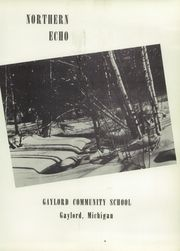 Page 7, 1956 Edition, Gaylord High School - Northern Echo Yearbook (Gaylord, MI) online yearbook collection