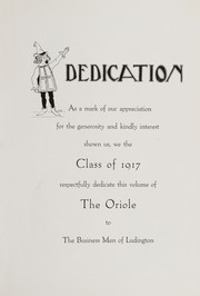 Page 9, 1917 Edition, Ludington High School - Oriole Yearbook (Ludington, MI) online yearbook collection