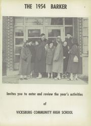 Page 5, 1954 Edition, Vicksburg High School - Barker Yearbook (Vicksburg, MI) online yearbook collection