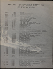Page 7, 1966 Edition, Topeka (CLG 8) - Naval Cruise Book online yearbook collection