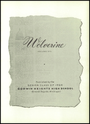Page 5, 1950 Edition, Godwin Heights High School - Wolverine Yearbook (Grand Rapids, MI) online yearbook collection