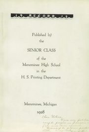 Page 7, 1928 Edition, Menominee High School - Record Yearbook (Menominee, MI) online yearbook collection