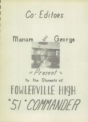 Page 5, 1951 Edition, Fowlerville High School - Commander Yearbook (Fowlerville, MI) online yearbook collection