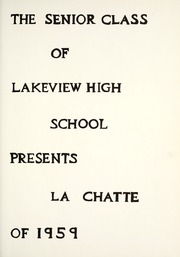 Page 5, 1959 Edition, Lakeview High School - LaChatte Yearbook (Lakeview, MI) online yearbook collection