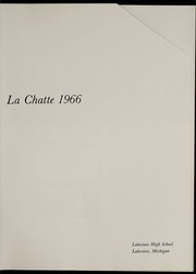 Page 5, 1966 Edition, Lakeview High School - La Chatte Yearbook (Lakeview, MI) online yearbook collection