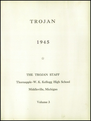 Page 5, 1945 Edition, Thornapple Kellogg High School - Trojan Yearbook (Middleville, MI) online yearbook collection