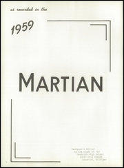 Page 8, 1959 Edition, Goodrich High School - Martian Yearbook (Goodrich, MI) online yearbook collection