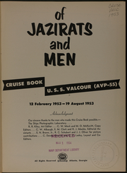 Page 5, 1953 Edition, Valcour (AVP 55) - Naval Cruise Book online yearbook collection